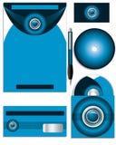 Dark and bright blue company vector set Stock Photo