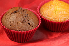 Dark and bright cupcakes Royalty Free Stock Photography