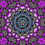 Dark bright mandala circular colorful patchwork. Dark mandala circular colorful patchwork Royalty Free Stock Photos
