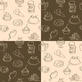 Dark and bright wallpaper with sweets Stock Photography