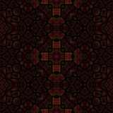 Dark brown abstract tile able decorative mosaic in retro style stock photo