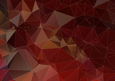 Dark brown abstract triangle background Royalty Free Stock Photography