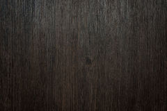 Dark brown background made of a wooden surface Stock Images