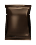 Dark brown bag foil bag isolated on white backgrou Stock Photography