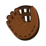 Dark brown baseball glove, graphic Royalty Free Stock Image