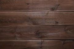 Dark brown boards background artistic horizontal pattern Royalty Free Stock Photos