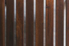 dark brown boards. the distance between the wooden planks stock photo