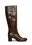 Dark brown boot Royalty Free Stock Photography