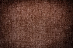 Dark brown canvas texture background Stock Image