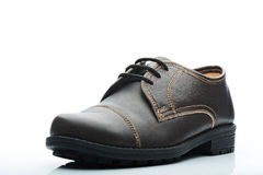 Dark brown casual shoe Stock Photos