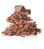 Dark Brown Chocolate Pieces II Royalty Free Stock Images