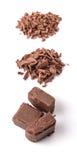 Dark Brown Chocolate Pieces III Stock Photography