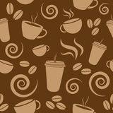 Dark Brown Coffee Pattern. Extremely awesome seamless lavender coffee pattern. Repeats infinitely. Great for a background, presentation, napkin design, or Stock Illustration
