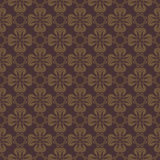 Dark Brown Colors Flower Pattern Design. Royalty Free Stock Photo