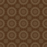 Dark Brown Colors Round grid Pattern. Korean traditional Pattern Stock Photography