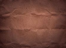 Dark brown crumple recycled paper texture Royalty Free Stock Image