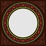 Dark brown decoratif islamic circle frame Royalty Free Stock Photos