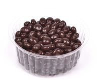 Dark brown dragee Stock Photography