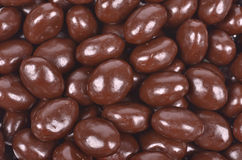Dark brown dragee Stock Images