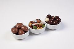 Dark brown dragee, chocolate Stock Images
