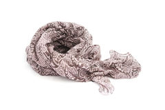 Dark brown fabric scarf Stock Photo