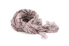 Dark brown fabric scarf Stock Photo