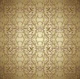 Dark brown floral background vector Stock Photography
