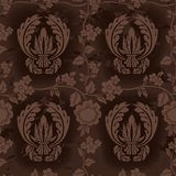 Dark Brown Floral Pattern Royalty Free Stock Photography