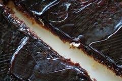 Dark-brown spread on toast Stock Photos