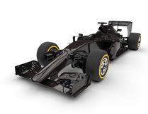 Dark brown formula one car Stock Photos