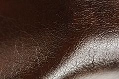 Dark Brown Glossy Artificial Leather Background Texture Royalty Free Stock Image