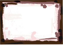 Dark Brown Grunge Border. On a white background Royalty Free Stock Photography