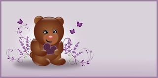 Dark brown Lavender Bear Stock Photos