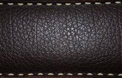 Dark brown leather background Royalty Free Stock Photos