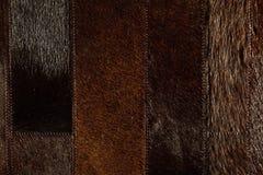 Dark brown leather patchwork Stock Photos
