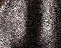 Dark brown leather texture Royalty Free Stock Images