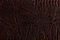Dark brown leather texture Stock Photos