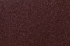Dark brown leather texture background with pattern, closeup Stock Photography