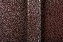 Dark brown leather Royalty Free Stock Image