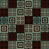 Dark brown and light blue square cube pattern background. Wallpaper Royalty Free Stock Photo