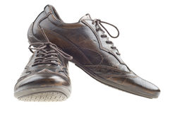 Dark brown men shoes Royalty Free Stock Photography