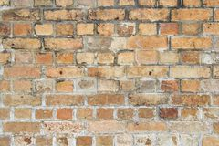 Dark brown old bricks wall royalty free stock image