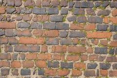 Dark brown old bricks wall stock photography