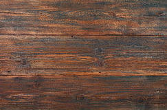 Dark brown old vintage wooden planks background Stock Photos