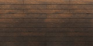 Dark brown old wooden planks texture. 3d render royalty free stock photo