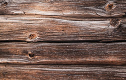 Dark brown old wooden wall, background texture Royalty Free Stock Photo