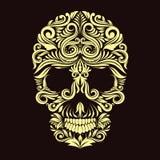 Dark Brown Ornament Skull Royalty Free Stock Image