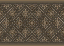 Dark brown ornamental background Royalty Free Stock Images