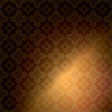 Dark brown ornamental background - vector vintage Royalty Free Stock Photo