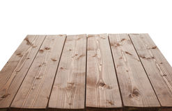 Dark brown paint coated wooden boards Stock Images